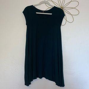 Vibe Sportswear Forest Green t-shirt dress
